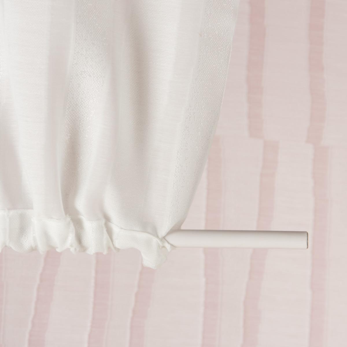 schiebevorhang fl chenvorhang scherli streifen miakdo wei 245x60cm inspirationen stilwelten. Black Bedroom Furniture Sets. Home Design Ideas