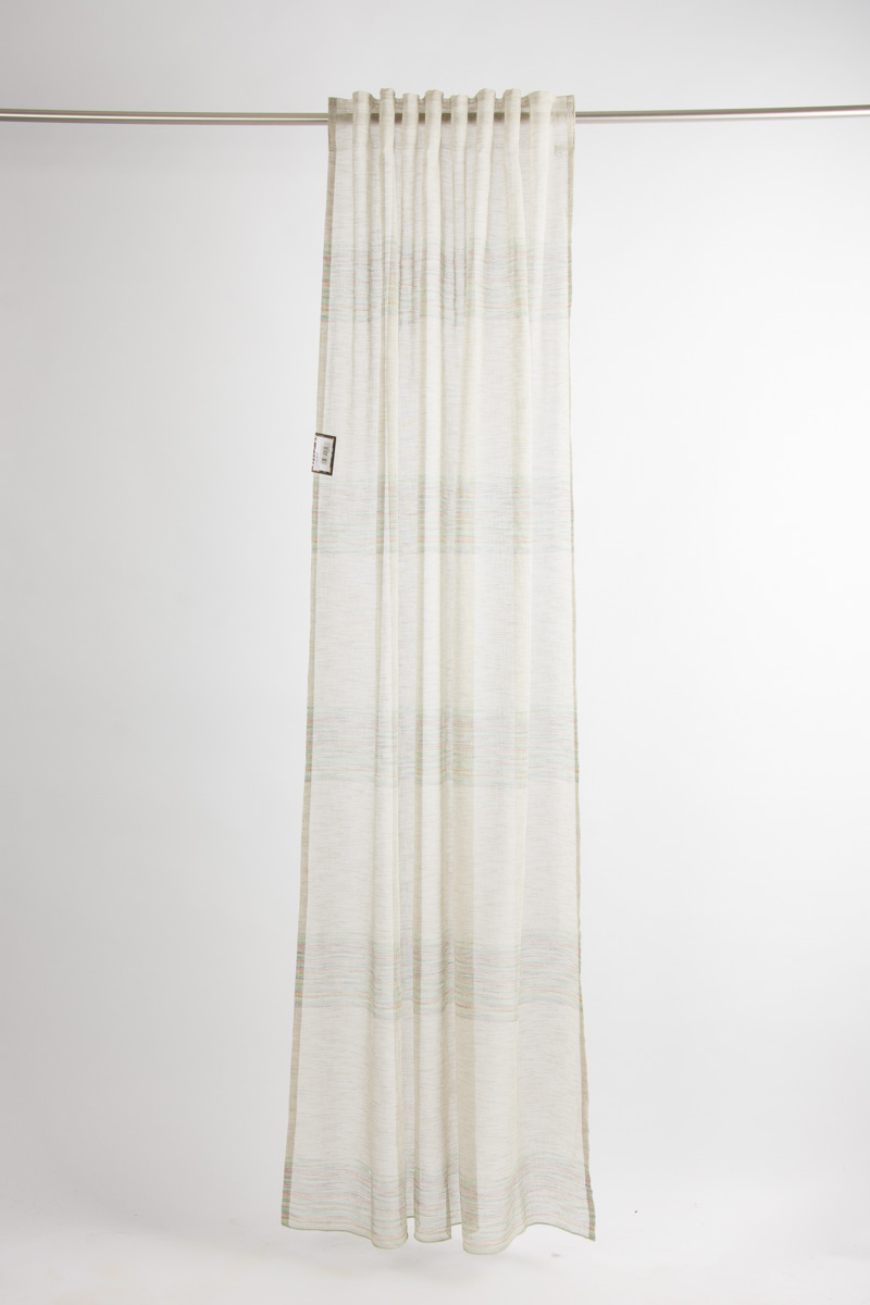 vorhang mit schlaufenband lavinia leinenoptik mulitcolour streifen 140x245cm inspirationen. Black Bedroom Furniture Sets. Home Design Ideas
