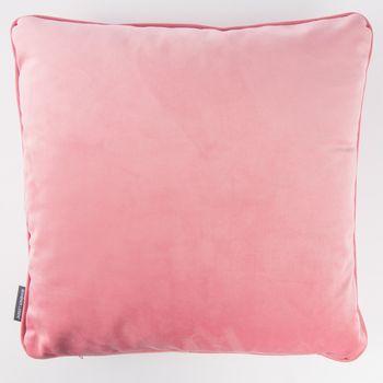 Schöner Leben Samtkissen mit Kederumrandung und Federfüllung rosa 50x50cm – Bild 1