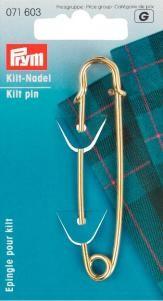 Prym Kiltnadel Kilt MS 76mm goldfarben