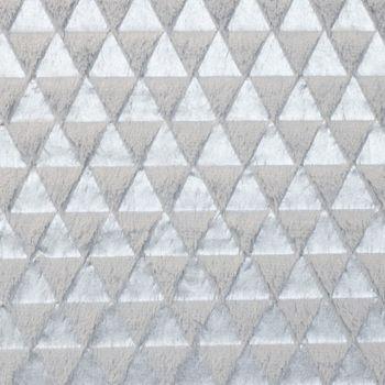 Fellstoff Dreiecke silberfarbig grau 1,70m Breite