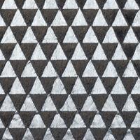 Fellstoff Dreiecke anthrazit silberfarbig 1,70m Breite 001