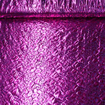 Stoff Folie Krokodil pink 1,45m Breite