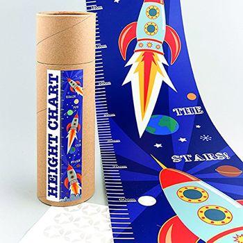 Kinder Messlatte Rakete Weltall bis 170cm