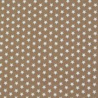 Baumwollstoff Mini Sterne taupe weiß 001