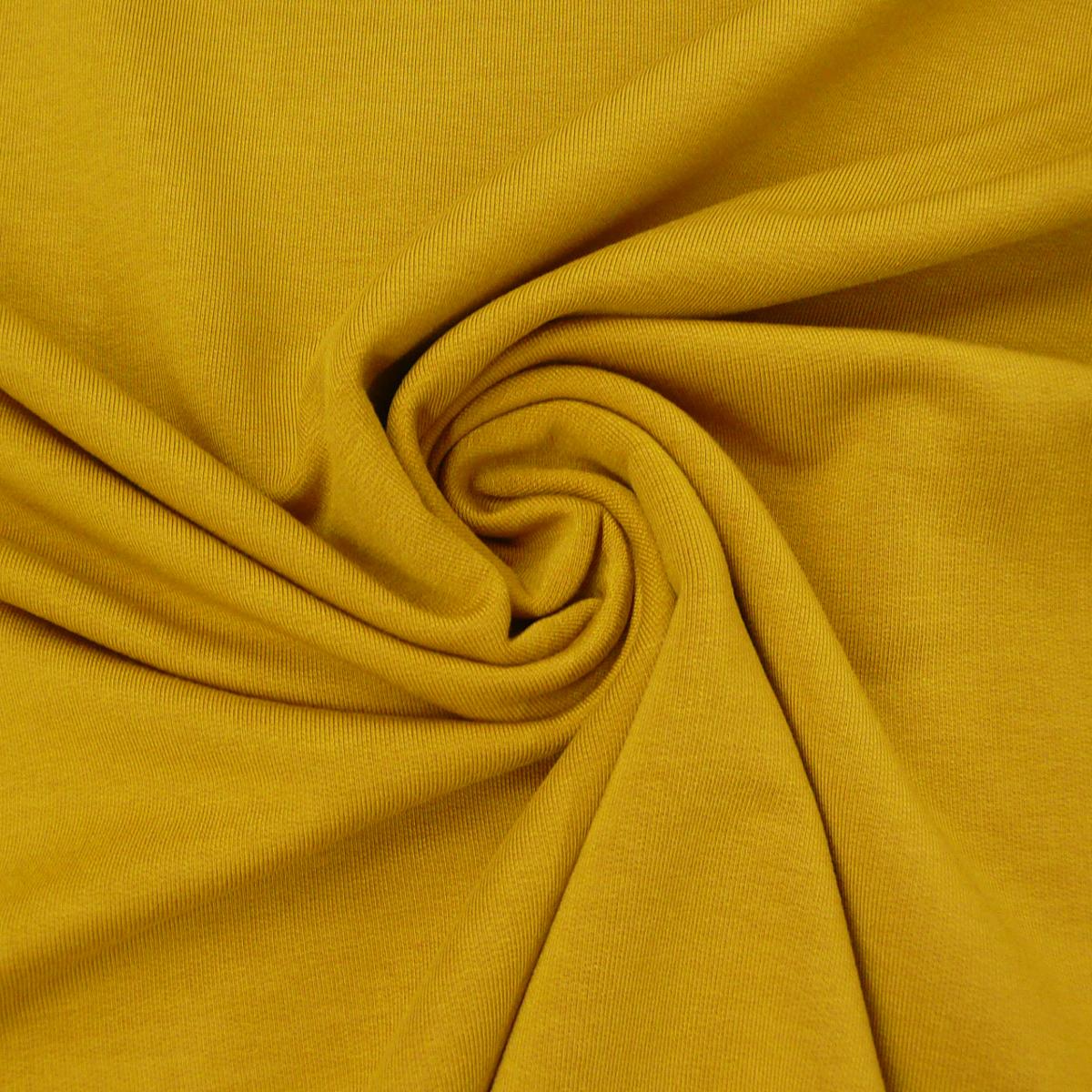 Bekleidungsstoff elastisch Modal einfarbig okker gelb