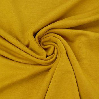 Bekleidungsstoff elastisch Modal einfarbig ocker gelb