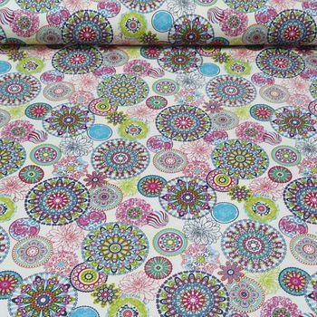Zugluftstopper Mandala Muster bunt 80 bis 130cm lang – Bild 4