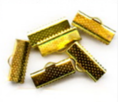 Verschlüsse goldfarbig 6 Stück 16x7,5mm