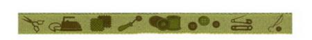 Webband Nähen Handmade grün Breite: 1cm