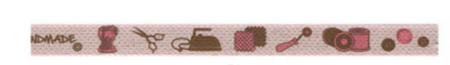 Webband Nähen Handmade rosa Breite: 1cm