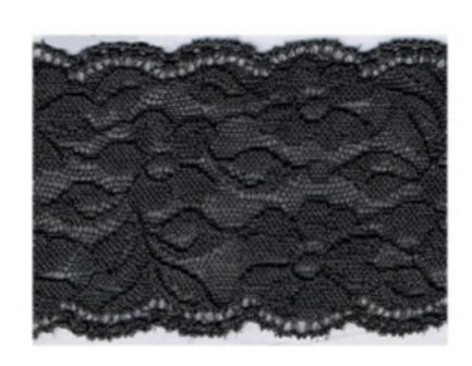 Spitzenband Bordüre elastisch schwarz Breite: 17,5cm