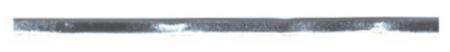 Band Kunstleder silberfarbig Breite: 5mm