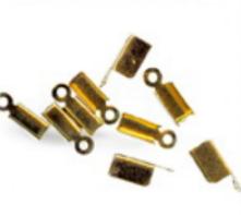 Verschlüsse Kordelklammern goldfarbig 10 Stück 11x4mm