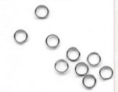 Verschlüsse Ringe silberfarbig 10 Stück 5mm