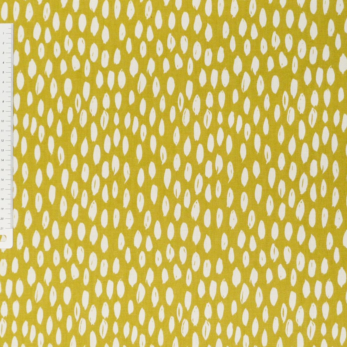 Dekostoff Bayside Honeydew ocker gelb weiß 137cm