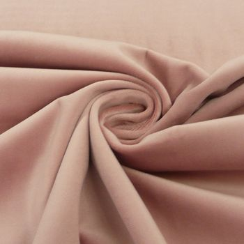 Samtstoff Dekostoff Italian Velvet Samt altrosa 1,45cm – Bild 1