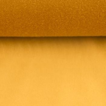 Samtstoff Dekostoff Italian Velvet Samt goldfarbig 1,45cm – Bild 4