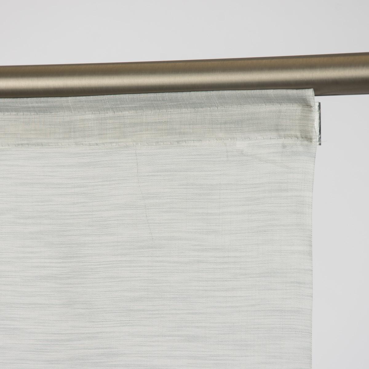 Schiebevorhang fl chenvorhang allure meliert grau 245x60cm for Inspirationen badezimmer in grau