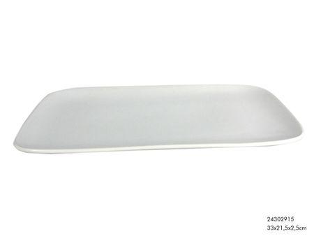 Teller Tablett Servierplatte Porzellan weiß 33x22cm – Bild 3