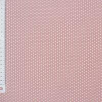 Baumwollstoff Mini Sterne rosa weiß