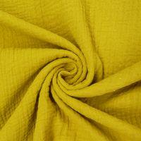 Bekleidungsstoff Double Gauze Musselin Windelstoff einfarbig ocker gelb