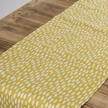 Schöner Leben Tischläufer Bayside Honeydew okker gelb weiß 40x160cm – Bild 2
