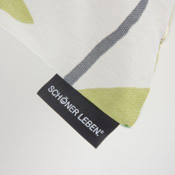 Schöner Leben Kissenhülle Coco Plum Lemonade Blätter grau grün gelb 50x50cm – Bild 4