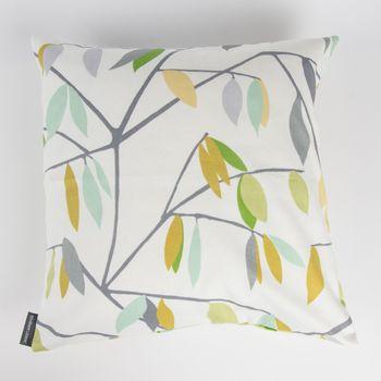 Schöner Leben Kissenhülle Coco Plum Lemonade Blätter grau grün gelb 50x50cm – Bild 1