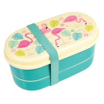 Box Brotzeit-Dose Bentobox Flamingo 9-teilig 16x9cm