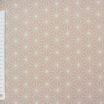 Baumwollstoff CASUAL Stern Motiv rosa weiß