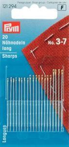 Prym 20 Nähnadeln lang ST 3-7 silberfarbig