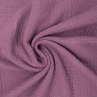 Bekleidungsstoff Double Gauze Musselin Windelstoff einfarbig purple lila