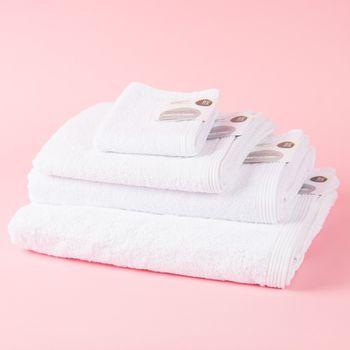 Frottee Handtuch Duschtuch Gästetuch weiß – Bild 1