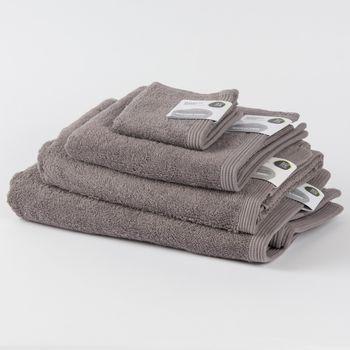 Frottee Handtuch Duschtuch Gästetuch grau – Bild 1