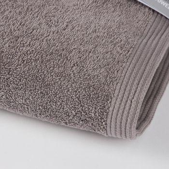 Frottee Handtuch Duschtuch Gästetuch grau – Bild 3