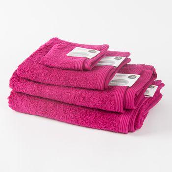 Frottee Handtuch Duschtuch Gästetuch sangria – Bild 1