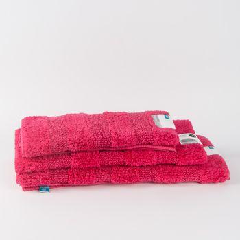Frottee Vorleger Badvorleger Badematte pink – Bild 1
