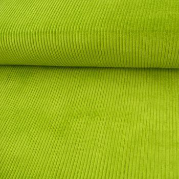 Bekleidungsstoff Cord 4,5W grob einfarbig grün