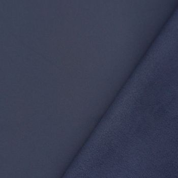 Bekleidungsstoff Softshell Fleece dunkelblau