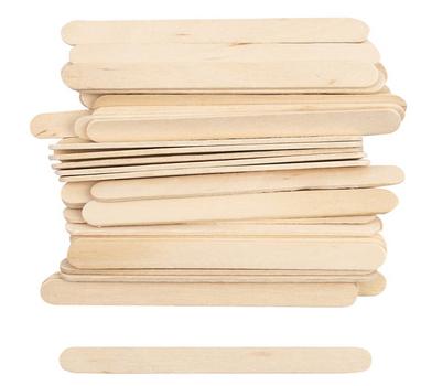 Eisstäbchen Holz Stäbchen 30 Stück 11x1cm