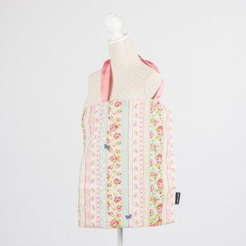 Schöner Leben Tasche Stofftasche Streifen Rosen rosa blau beige 43x49cm – Bild 1