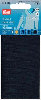 Prym Flickstoff Baumwolle (zum Aufbügeln) 14x45 cm dunkelblau
