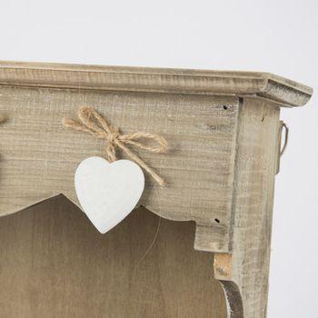 Wandregal Schlüsselkästchen mit Herzen Holz 31x38cm – Bild 2