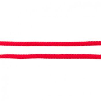 Baumwoll Kordel Zierband rot Breite: 8mm