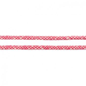 Baumwoll Kordel Spinnennetz natur pink Breite: 8mm