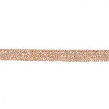 Baumwoll Flachkordel Kordel hellbraun mint Breite: 2cm