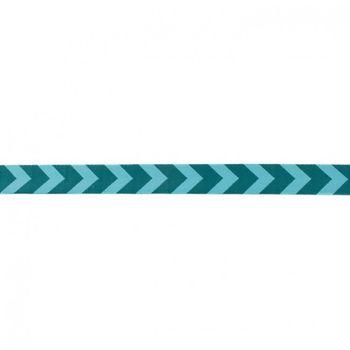 Band Polyester Pfeile petrol türkis Breite: 1,5cm