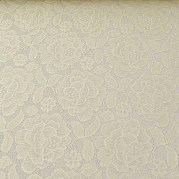 Elastische Spitze Blumen mit Wellen Abschluss beidseitig creme – Bild 2