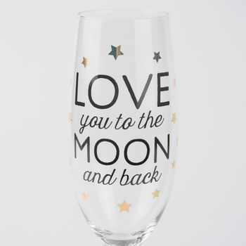 Sektglas Champagnerglas LOVE you to the MOON and back 25x8cm – Bild 2